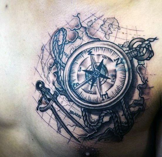 50 world map tattoo designs for men adventure the globe ideas de 50 world map tattoo designs for men adventure the globe gumiabroncs Gallery