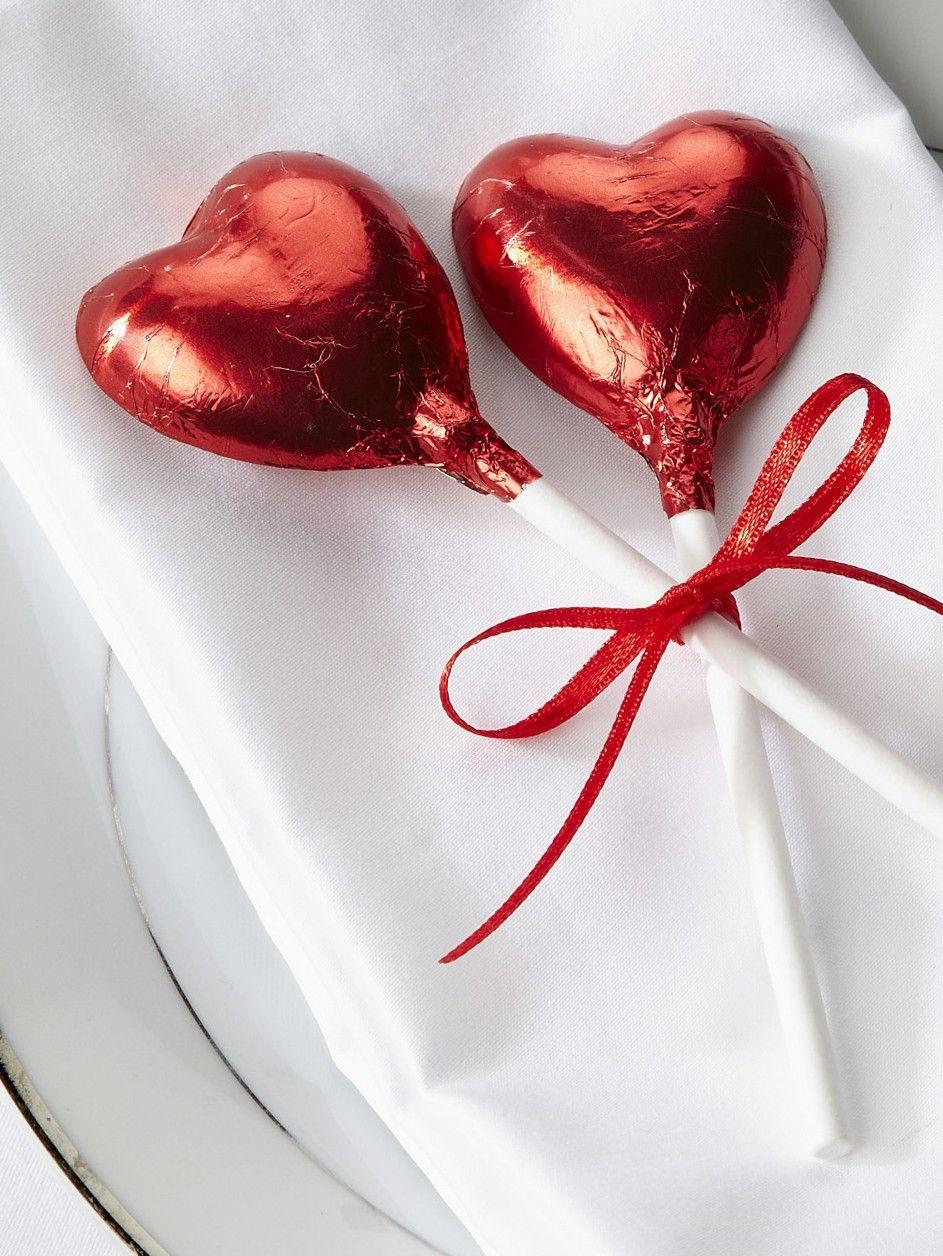 red chocolate heart lollipop - Valentine Lollipops