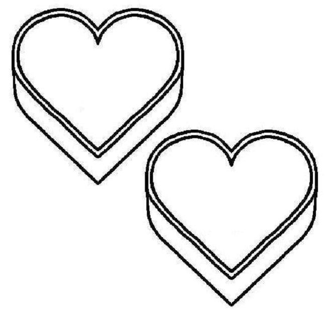 Pinned From Site Directly Heart Outline Coloring Page