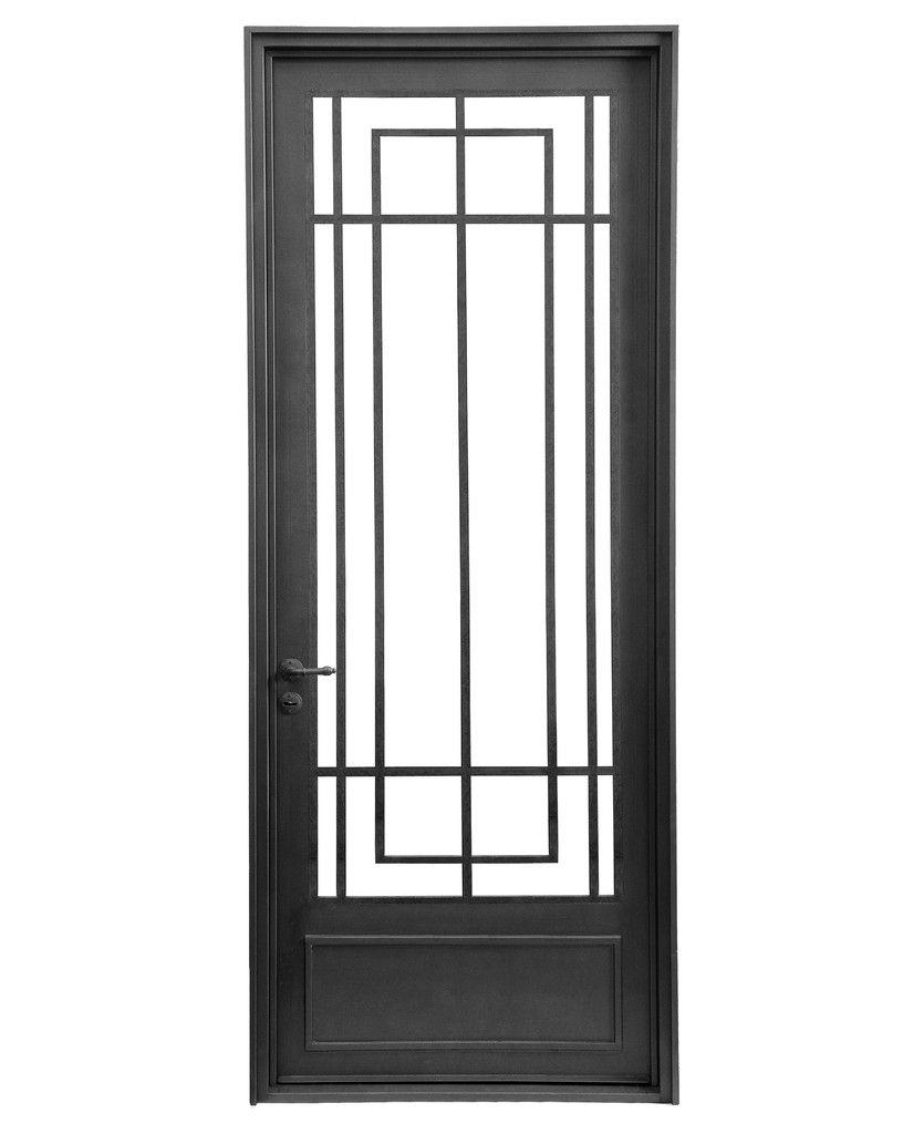 Puerta de hierro del hierro design pinteres for Puertas principales de hierro para casas