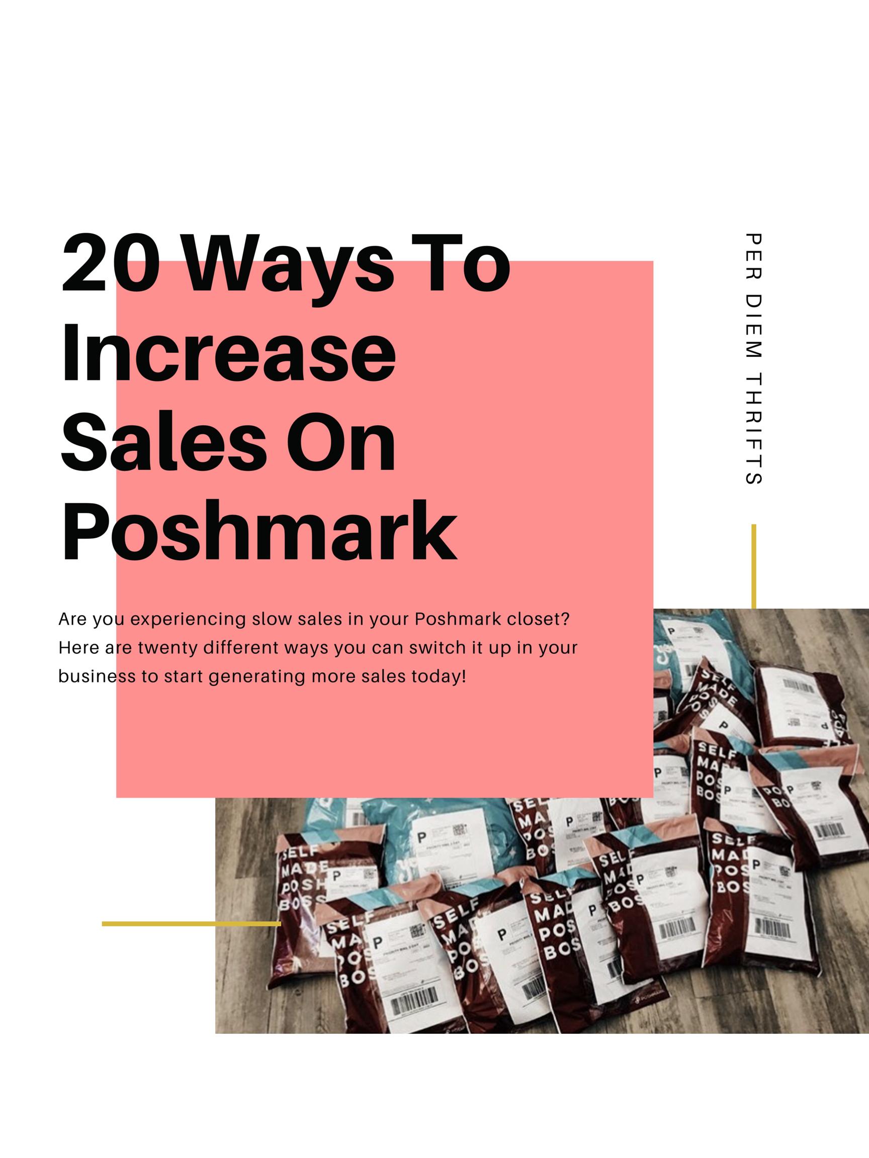 20 Ways to Increase your Poshmark Sales | Per Diem Thrifts