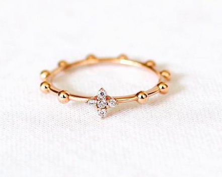 prayer bead ring Dainty Yellow Gold Filled bead ring size 7 stacking rings yellow gold ring minimalist Sterling silver