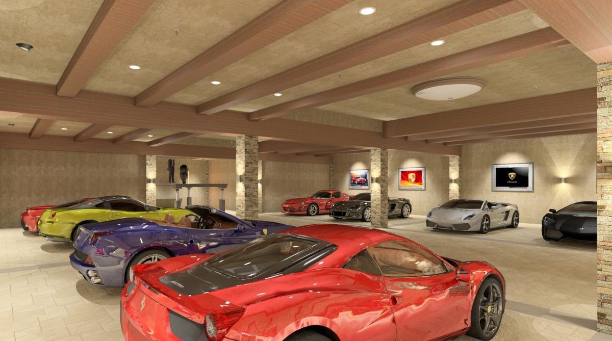 Private Luxury Garage Rendering By Bradley Adams Co Worker