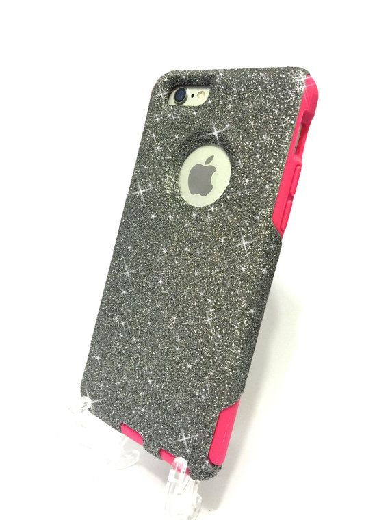 sale retailer 31c6a cd13d Custom iPhone 6 Plus Glitter Otterbox Commuter by NaughtyWoman | N ...