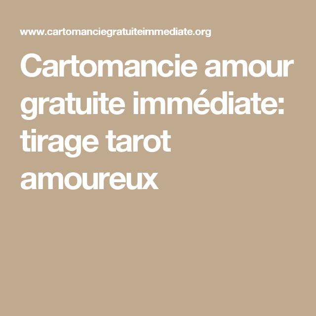 tarot amour gratuite immediate