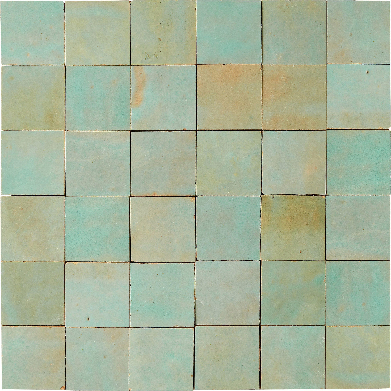 Mosaique Mur Zellige Vert 5 X 5 Cm Leroy Merlin Zellige Carrelage Salle De Bain Decor Noir Et Blanc