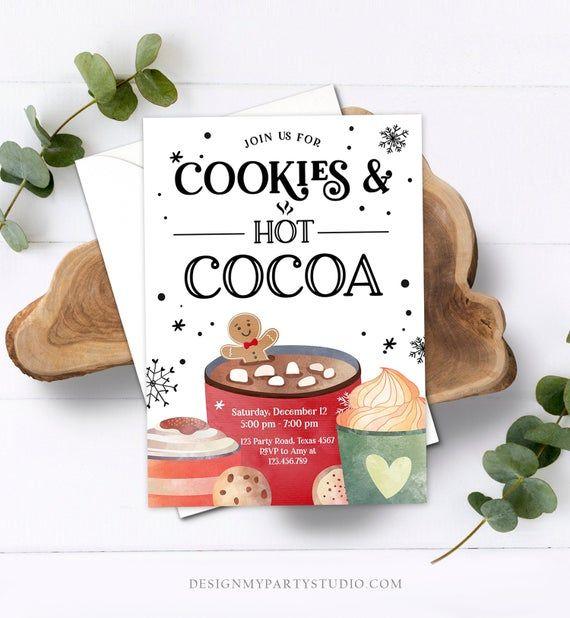 Hot Chocolate Christmas Invitation