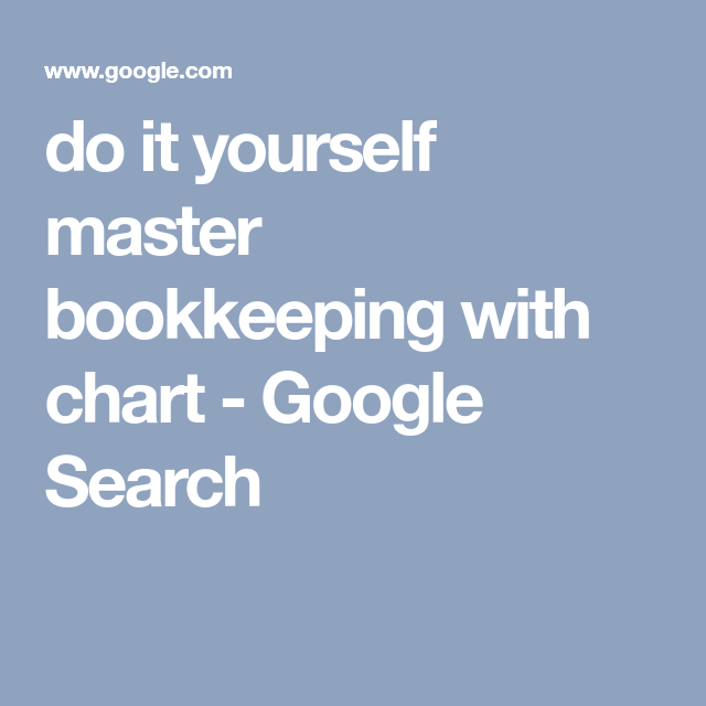Do it yourself master bookkeeping with chart google search house do it yourself master bookkeeping with chart google search solutioingenieria Gallery