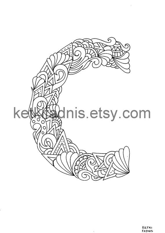 Letter C Coloring Page Instant Pdf Download Alphabet Alphabet