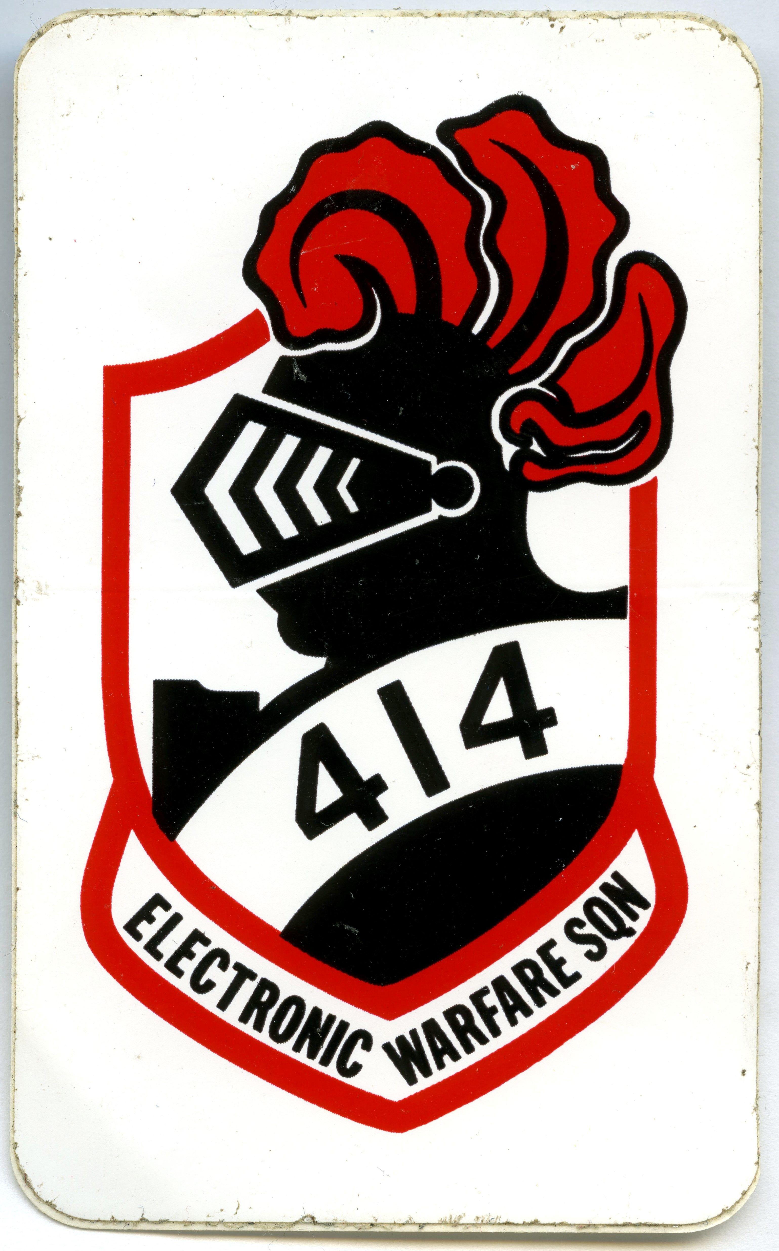 RCAF 414 Squadron Electronic Warfare Sticker Sport
