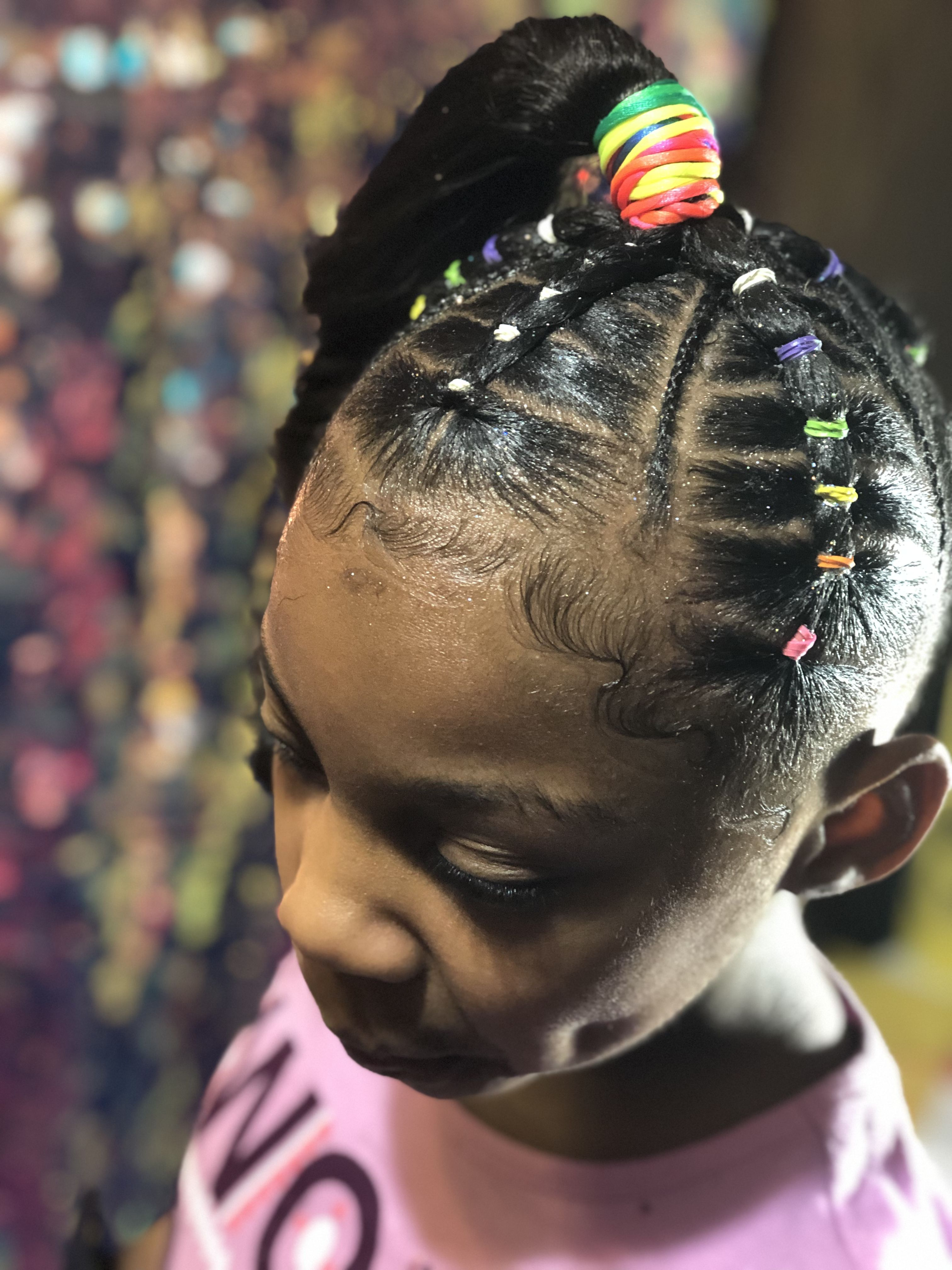 Beautiful Rubberband Hair Styles For Little Natural Hair Black African American Girls For Weddings Simpl Natural Hair Styles Kids Curly Hairstyles Hair Styles