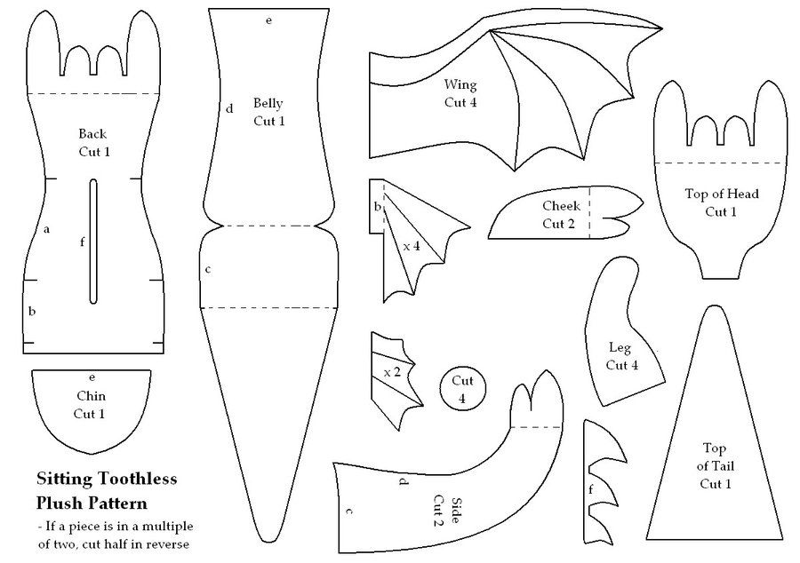how to train your dragon toothless free pattern - i can\'t wait to ...