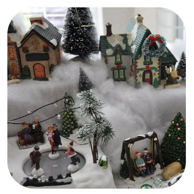 Facilisimo christmas craft pinterest visors and craft how to create a do it yourself christmas village on a budget tips for building a christmas village with dollar tree items a christmas train and more solutioingenieria Choice Image
