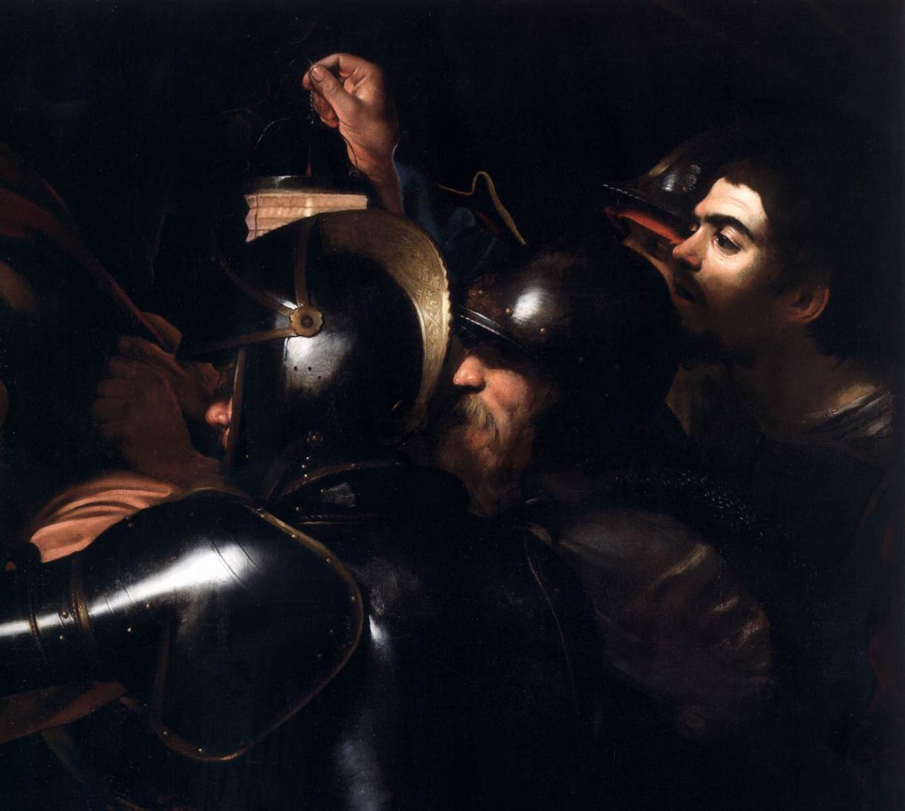 the taking of christ 80% off a hand made oil painting reproduction of the taking of christ c 1598, one of the most famous paintings by caravaggio free certificate of authenticity free shipping.