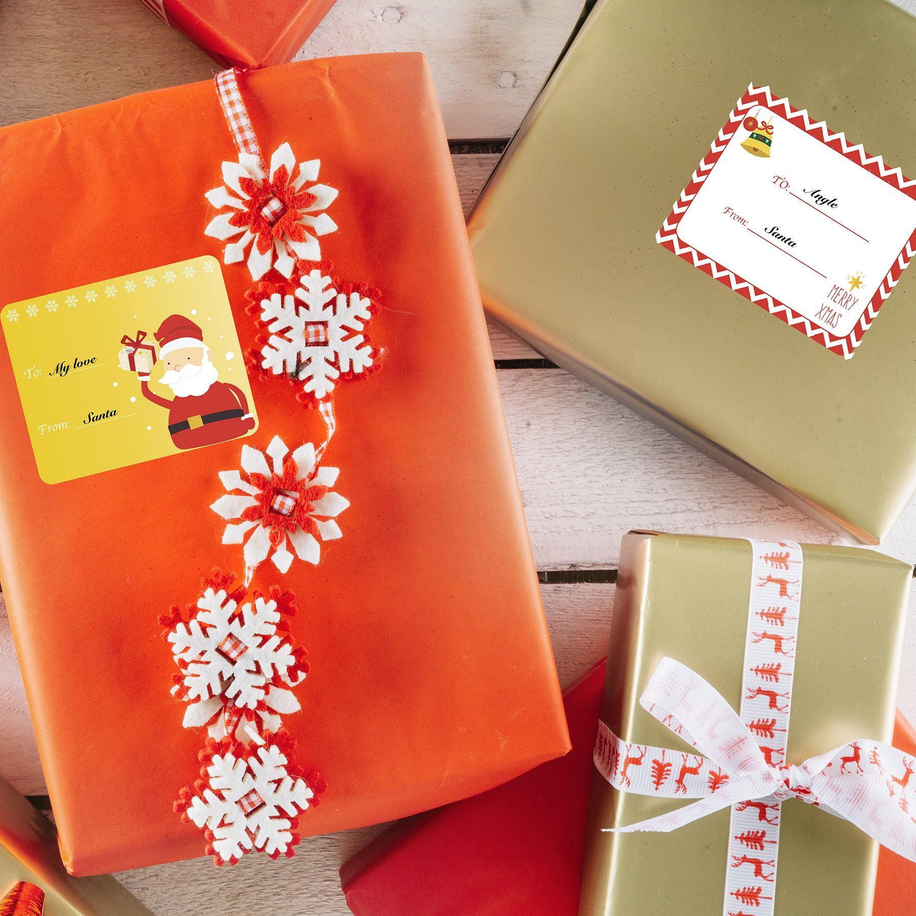 48-Pack Gift Wrapping Paper Boxes with Lids For Christmas Gifts Holiday Presents