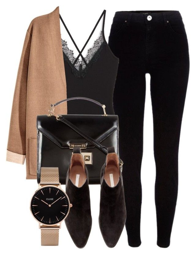 """""""Untitled #6706"""" by laurenmboot ❤ liked on Polyvore featuring River Island, Monki, Rebecca Minkoff, H&M and CLUSE"""