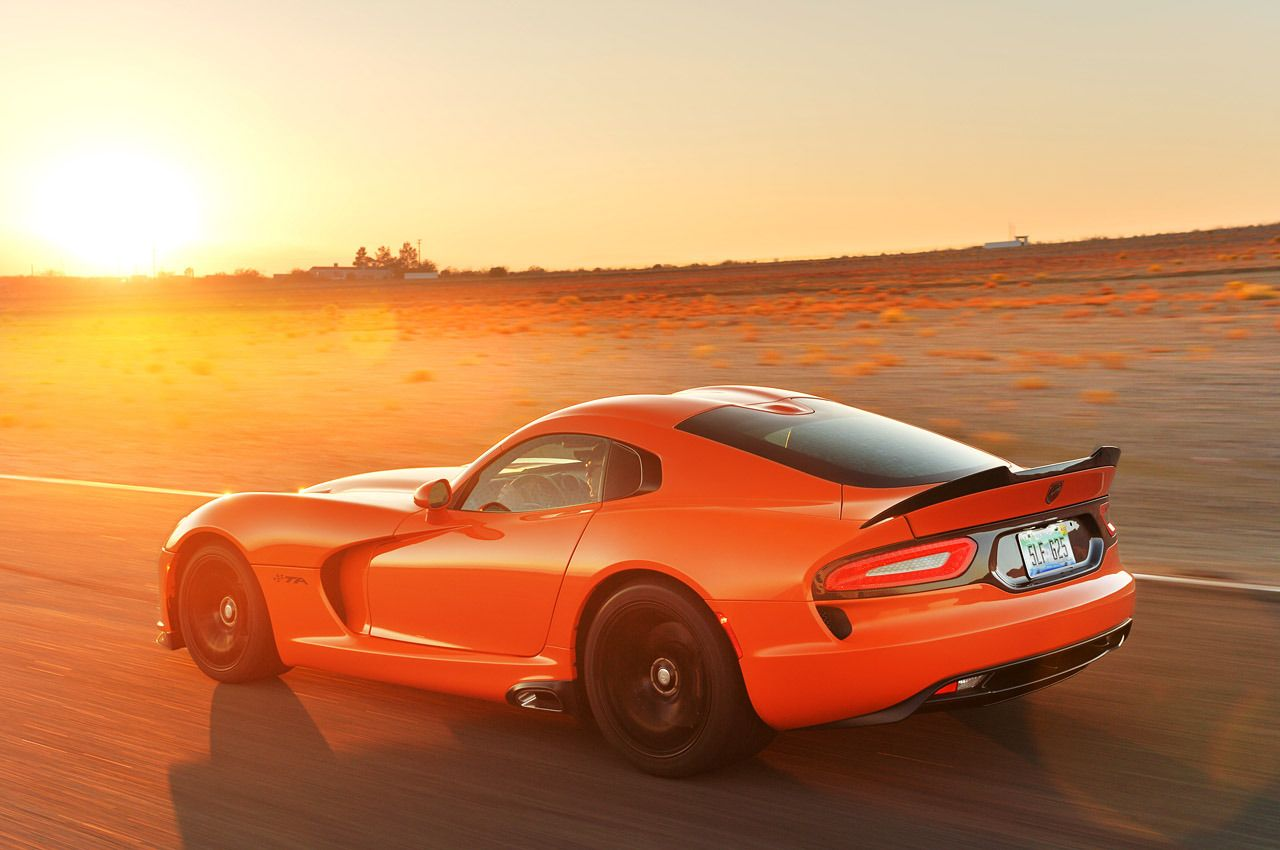 2014 dodge viper srt ta orange