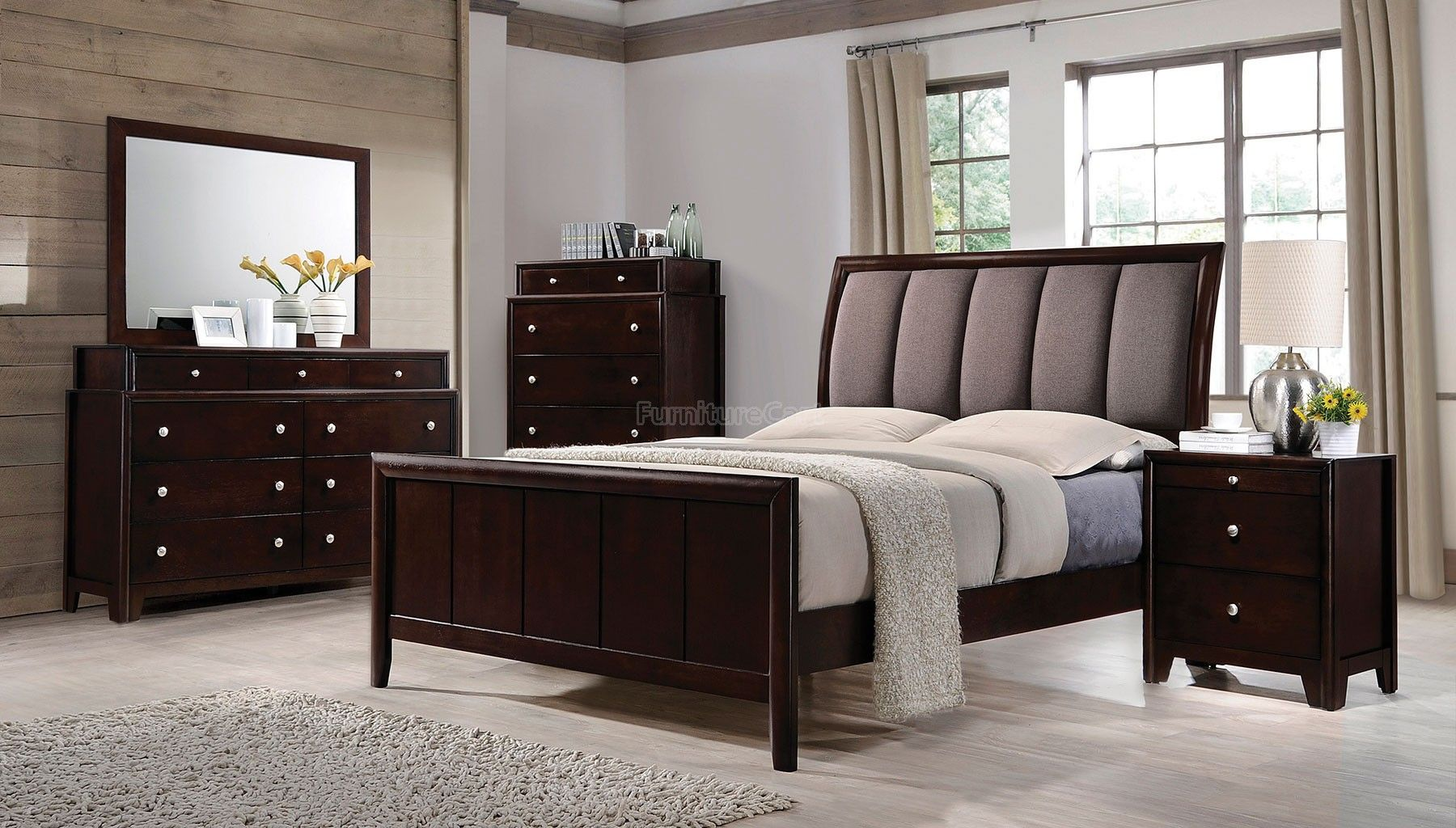 Madison Sleigh Bedroom Set Coaster Fine Furniture
