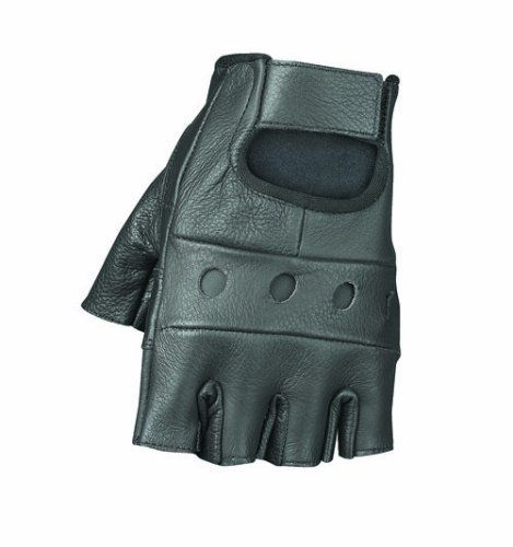 Amazon.com: Raider Black Medium Leather Fingerless Gloves: Automotive | @giftryapp
