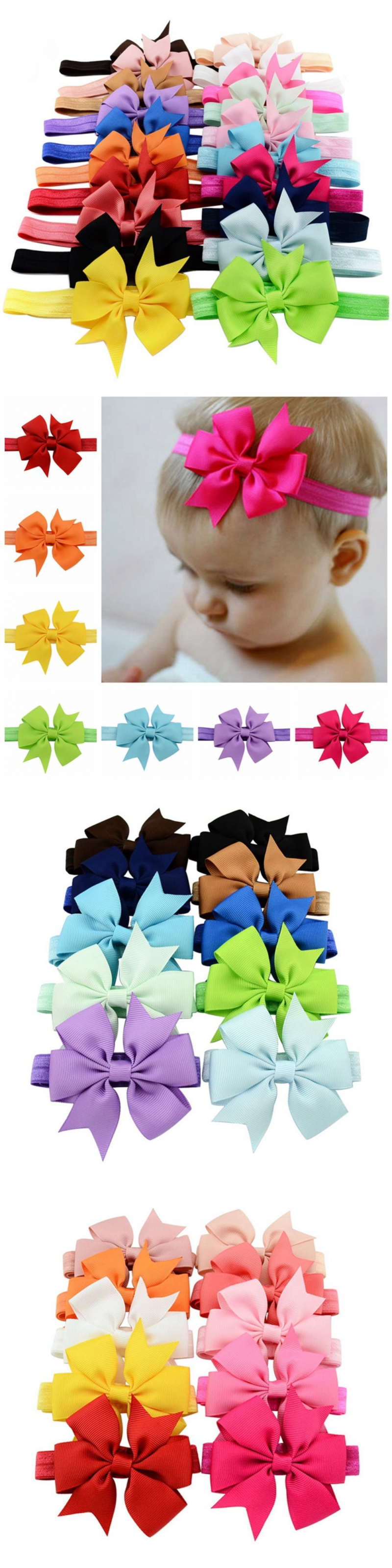 Hair accessories for babies ebay - Hair Accessories 18786 20pcs Lot 3 Inch Cute Kids Baby Girls Headband Toddler Infant Chiffon