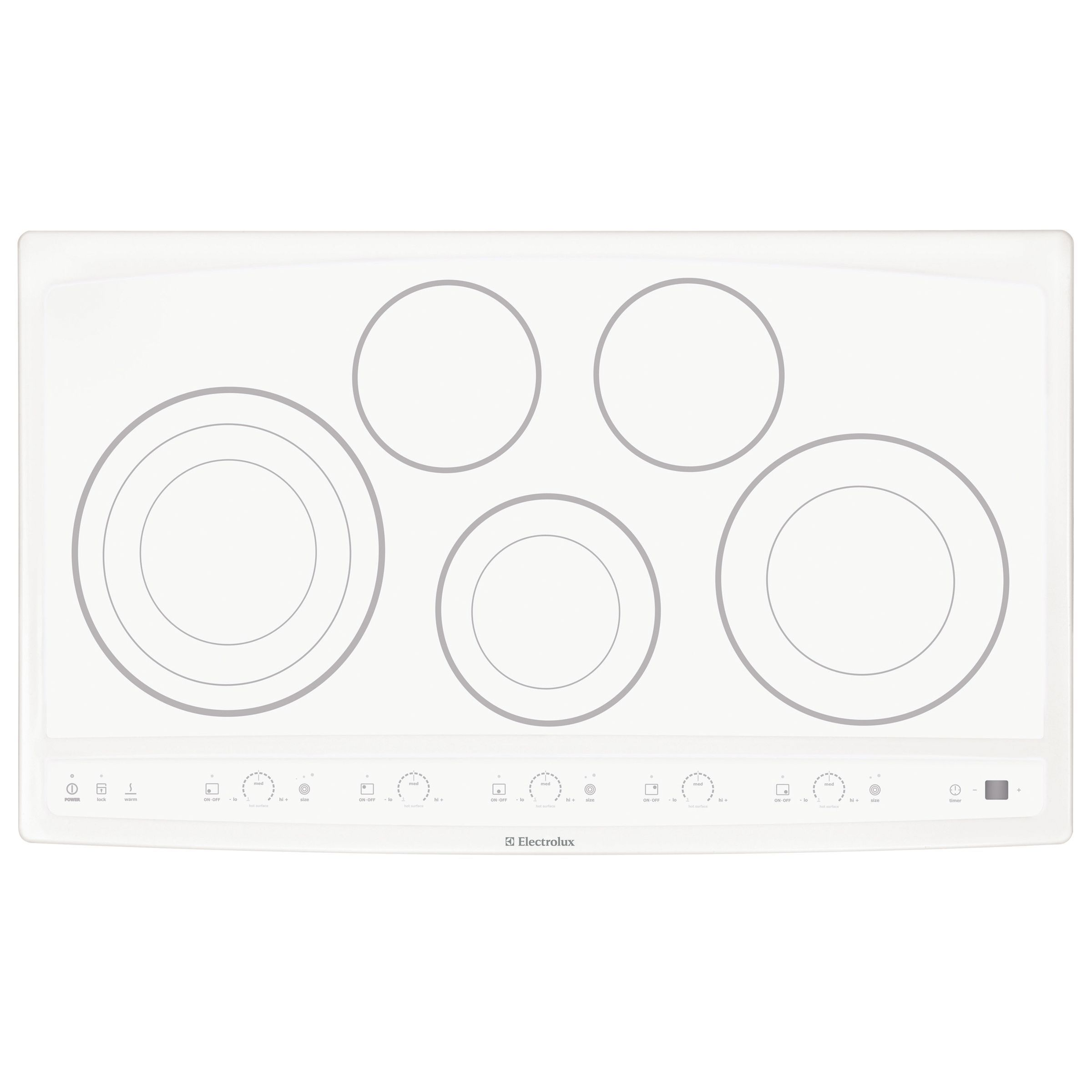 Electrolux 36 Cooktop Ew36cc55g A White Induction Hob Don T Necessarily Like The Circles