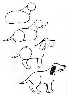 perro dibujo facil a lapiz paso a paso   Pinteres