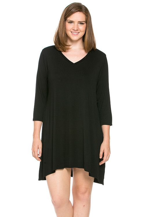 Plus Size Layering T Dress Perfect To Pair With Some Tights And