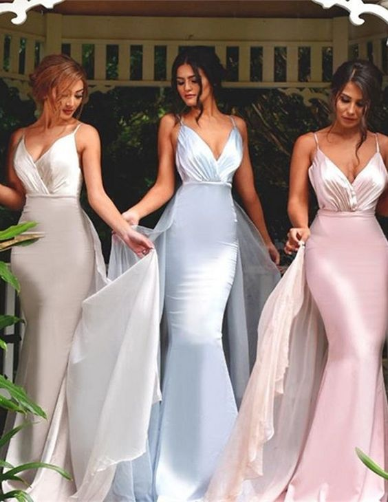 4a6c4073c3f0 V-neck Bridesmaid Dresses,Mermaid Bridesmaid Dress,Sexy bridesmaid dress,Unique  Kleider