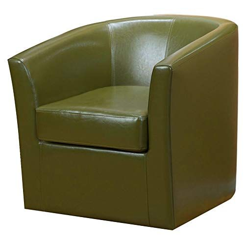 Remarkable Swivel Barrel Chair Upholsterytub Accent Chair Faux Leather Gmtry Best Dining Table And Chair Ideas Images Gmtryco