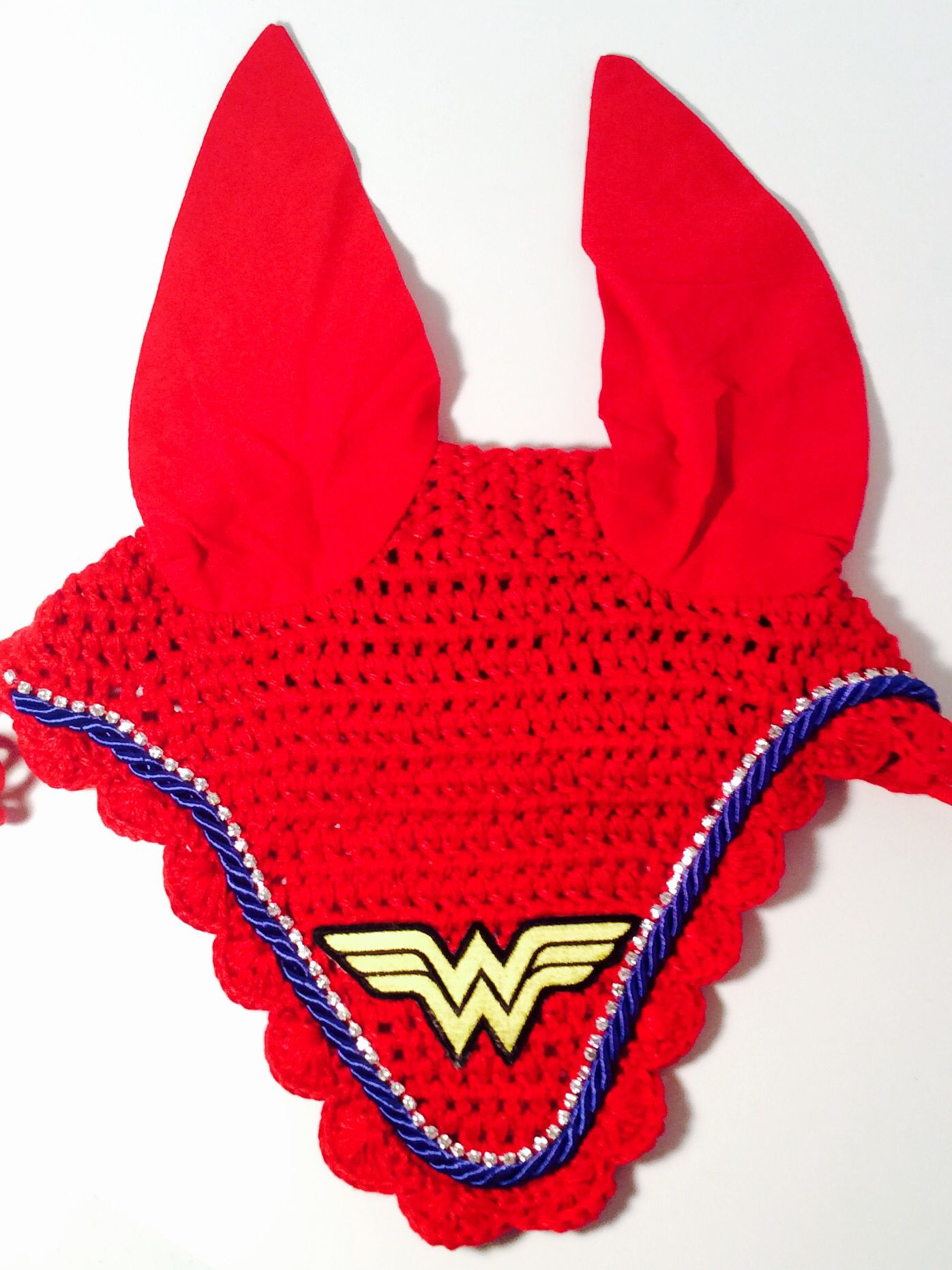 $45 Custom Wonder Woman Equestrian Fly Bonnet
