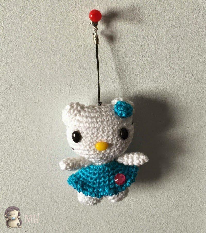 Mini Hello Kitty amigurumi | amigurumis | Pinterest | Gorros y Ganchillo