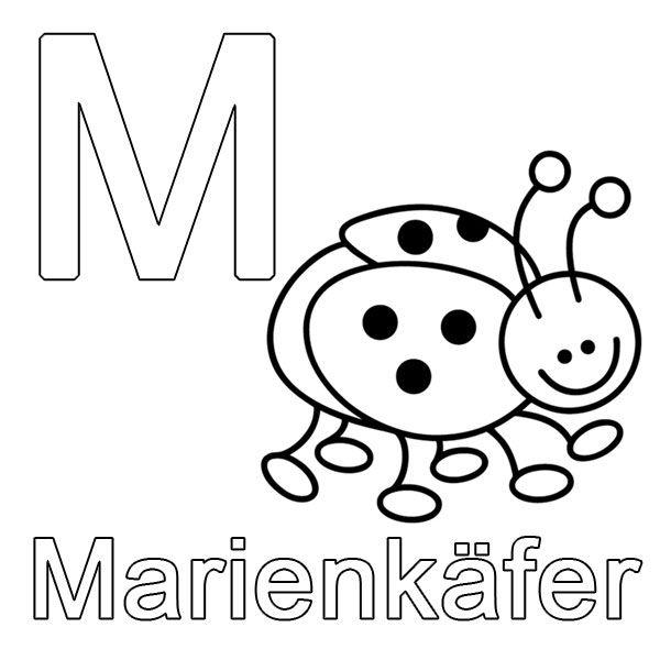 Ausmalbild Buchstaben Lernen Kostenlose Malvorlage M Wie Marienkafer Kostenlos Ausdrucken Buchstaben Lernen Abc Buchstaben Ausdrucken
