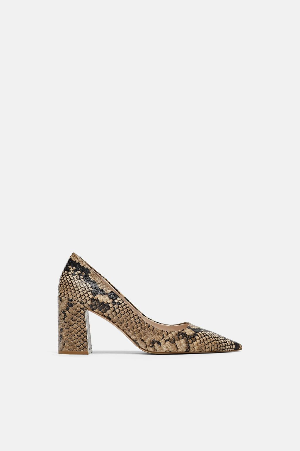 ead124702f8 Image 2 of ANIMAL PRINT LEATHER HIGH HEELED SHOES from Zara ...