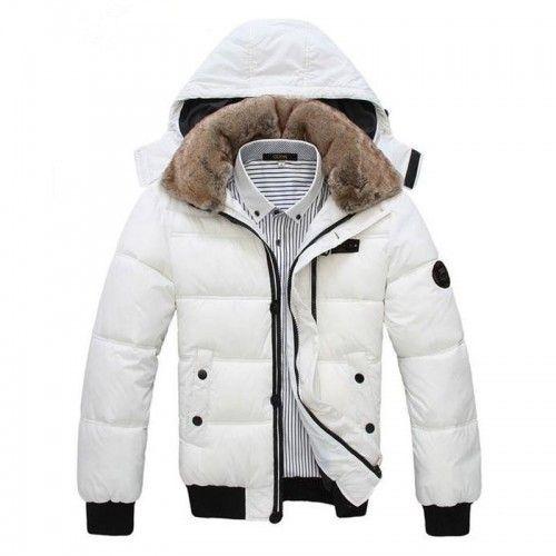 Doudoune Homme Sport chic luxe fourrure parka fashion Blanche   For ... e48ebf2fa19