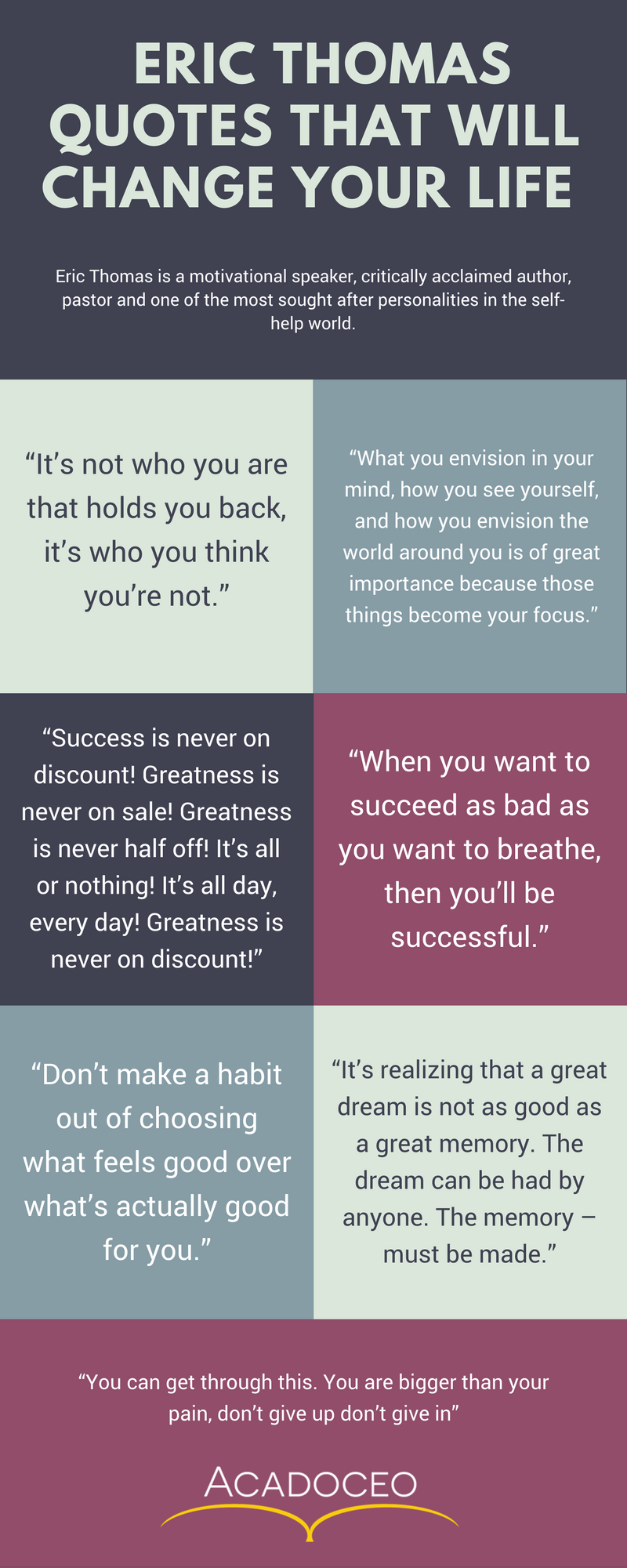 ERIC THOMAS QUOTES THAT WILL CHANGE YOUR LIFE quotes