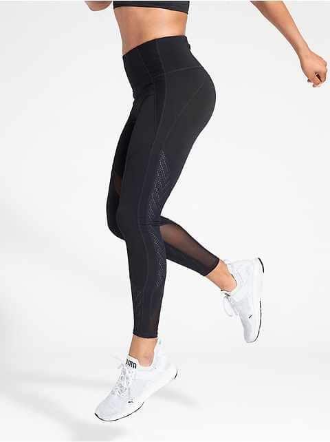 Athleta Challenge 7/8 Tight Black M Yoga Run Gym Workout Fitness Lightweight