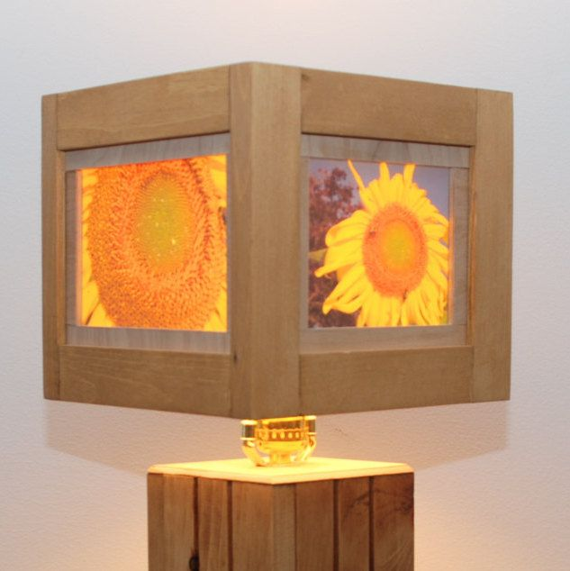 Sunflower lamp lampshade barn wood geometric lighting sunflower lamp lampshade barn wood geometric lighting unique photography aloadofball Gallery