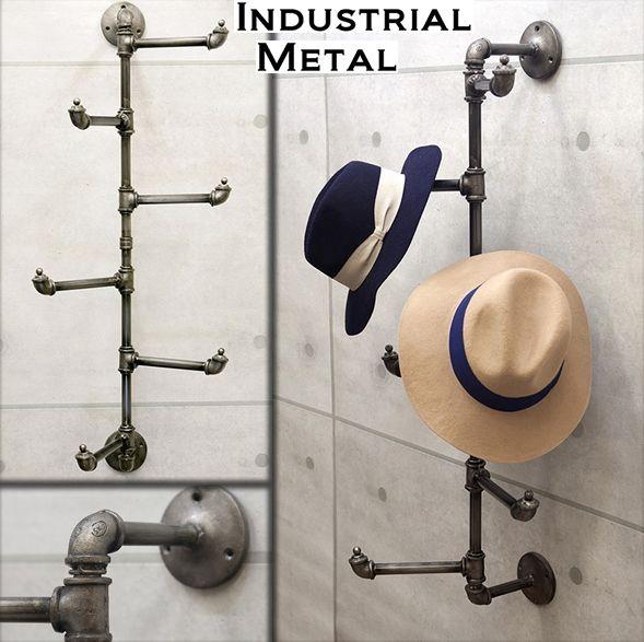 おしゃれ収納シリーズ Nyスタイルのアイアン 帽子ラック 店舗用