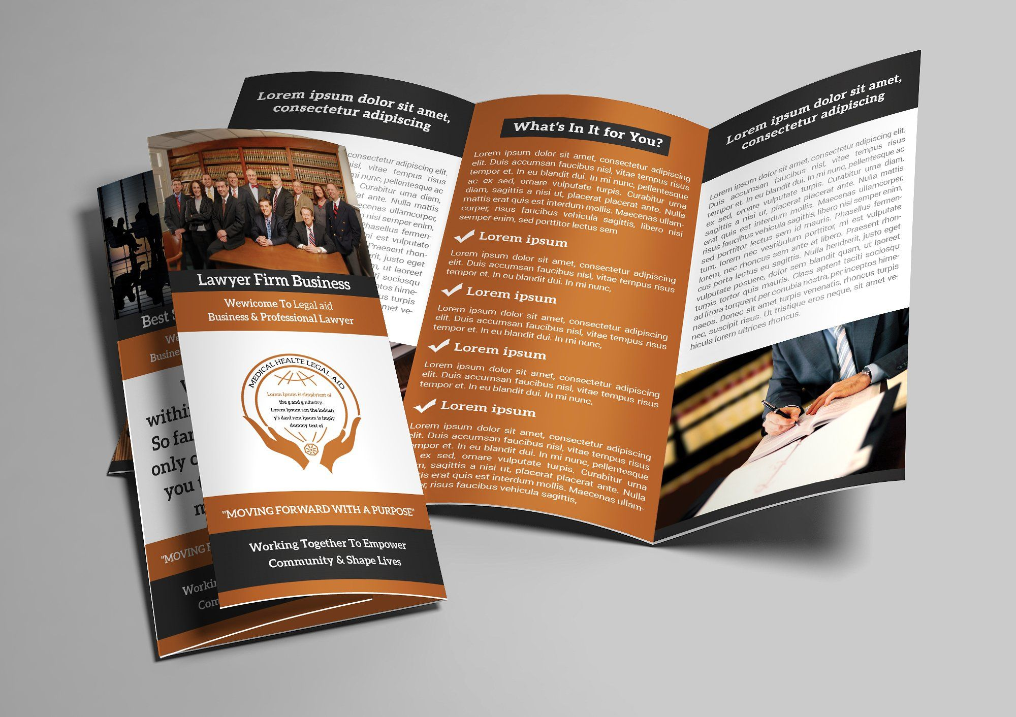 Law firm trifold brochure with images trifold brochure