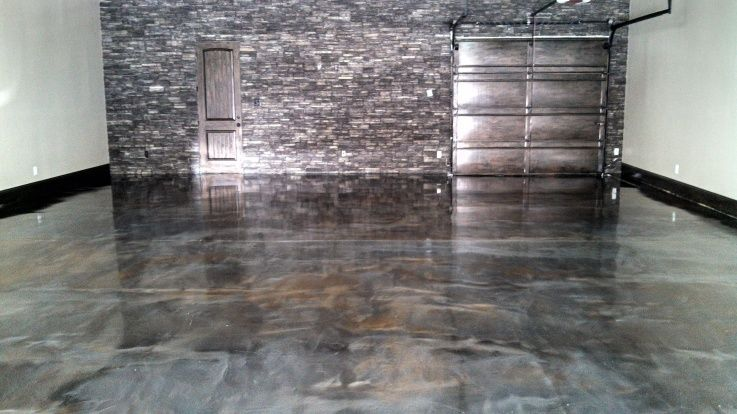 metallic marble epoxy flooring garage houston tx bold