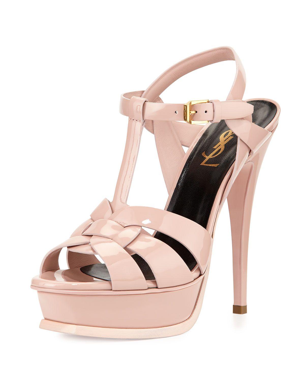 Ysl sandals shoes - Yves Saint Laurent Tribute Patent Leather Platform Sandal Women S Size 39 5 Eu