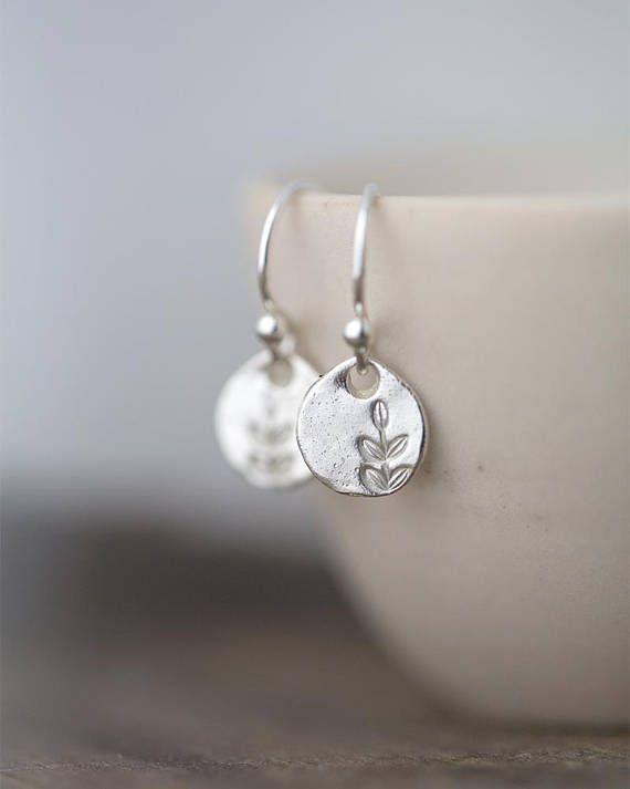 Handstamped Minimalistic PlantLeaf Necklace