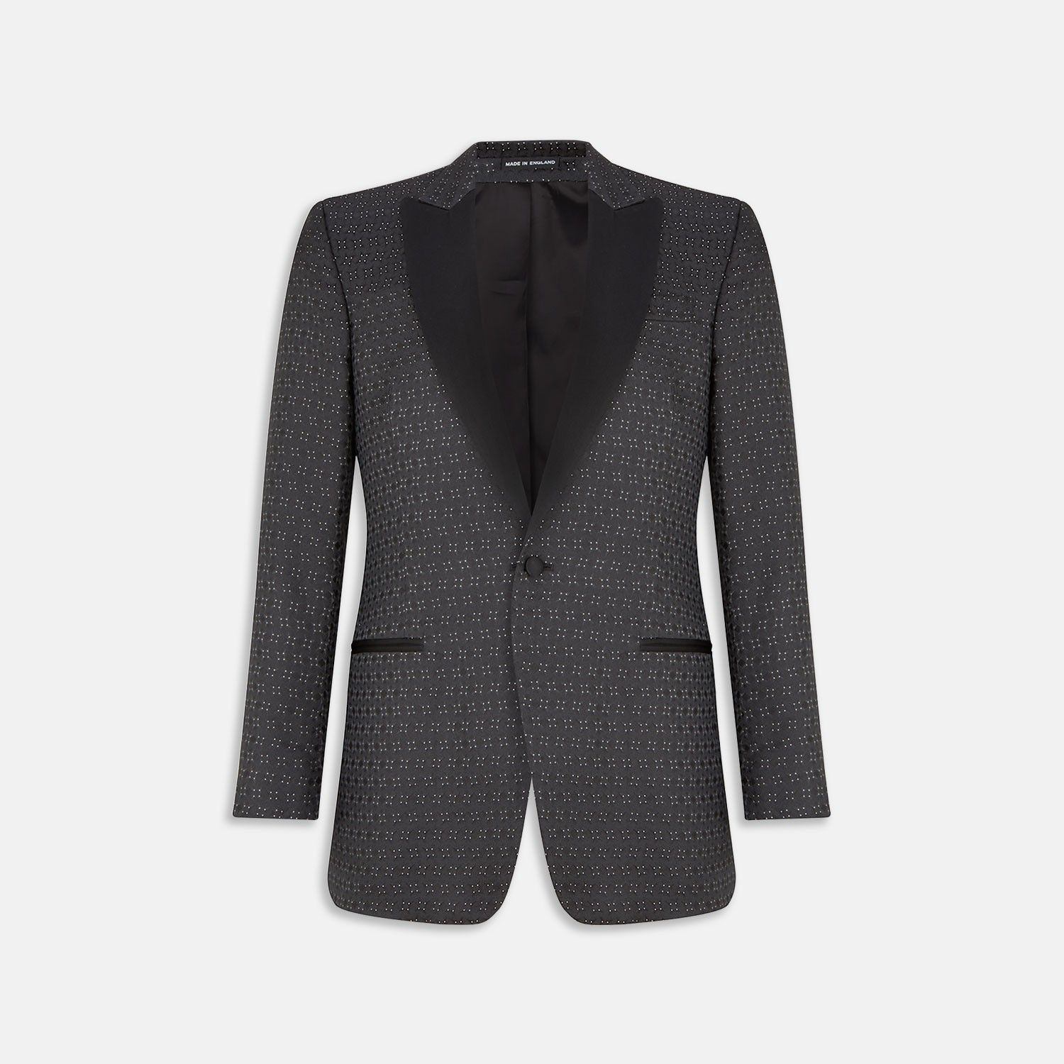 299168a1194 Exclusive Triangle Shiny Dots Black Silk Tuxedo Jacket - Blazers -  Outerwear - Clothing