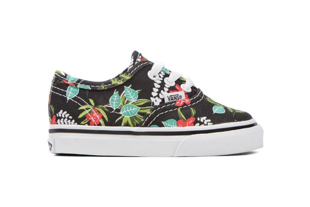 fae8c8fca278fa Vans Toddler Authentic Hawaiian Floral - Black True White