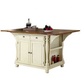 Cherry Topped Kitchen Island With Drop Down Surface And Four Drawers Product Kitchen Island Construction Material Wo Home Decor Decor Primitive Kitchen