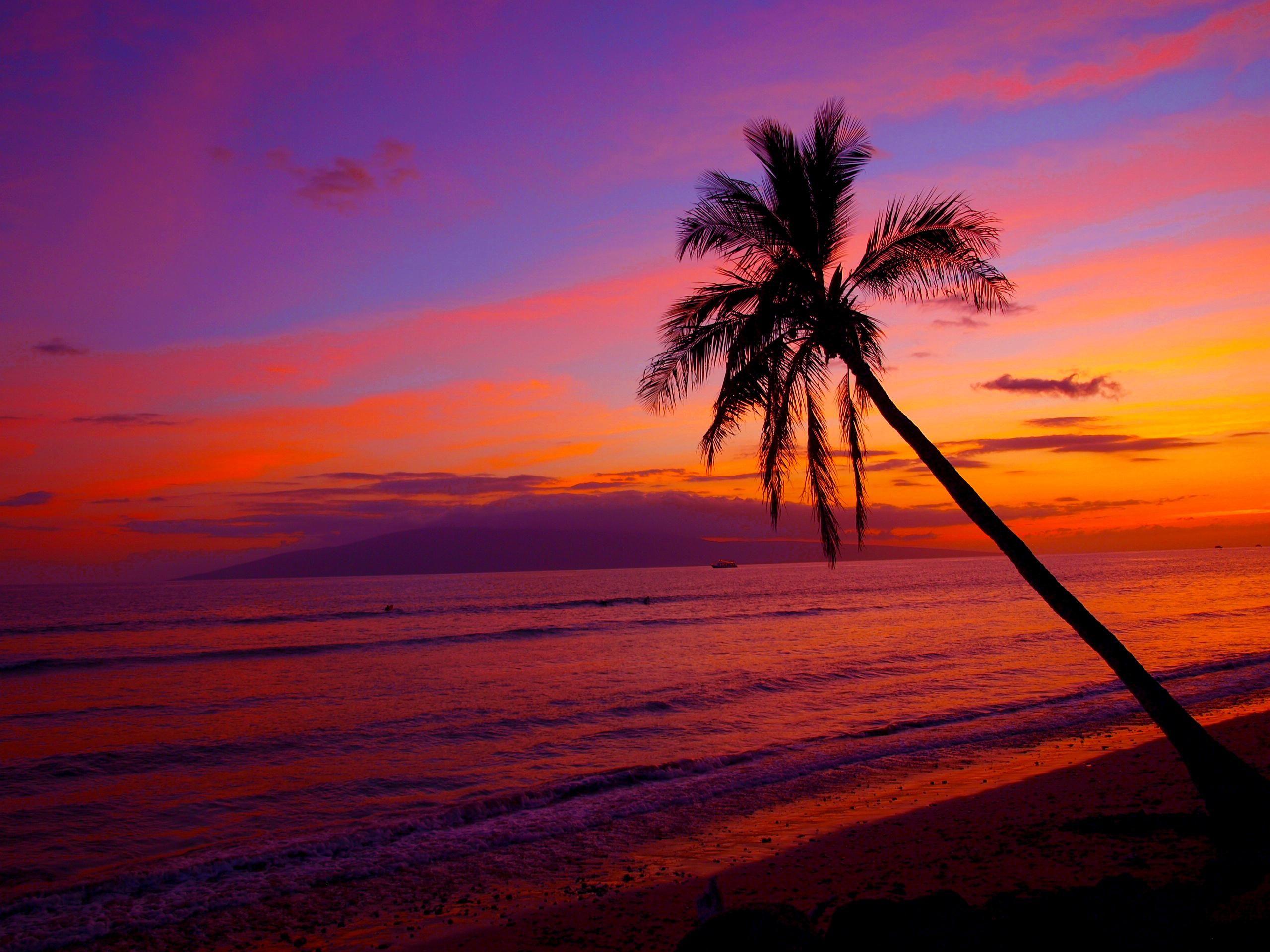 Hawaii Sunset Wallpaper Desktop Sunset beach hawaii