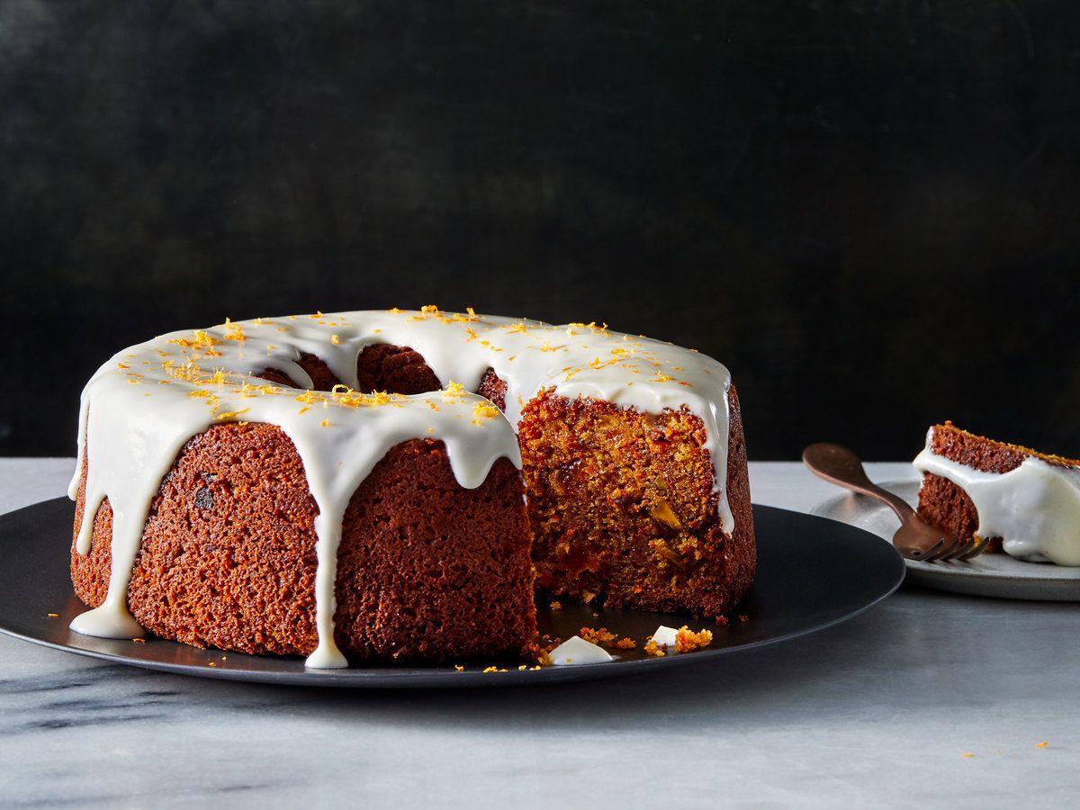 Carrot And Orange Cake With Sour Cream Glaze Recipe Recipe In 2020 Sour Cream Cake Orange Cake Savoury Cake