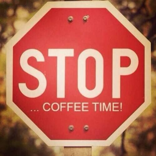 STOP It's #coffee time... #coffeebreak #enjoy