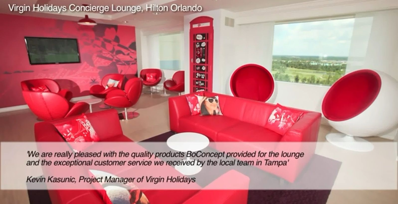 BoConcept Lugo sofas and Schelly chairs in Virgin Holidays Lounge