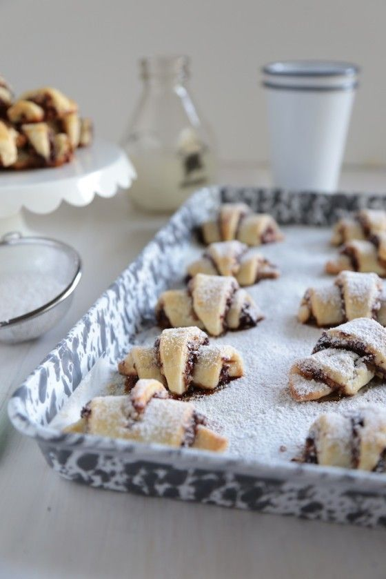 Bourbon Cherry Walnut Rugelach - It's fall time packed into a flakey cookie!